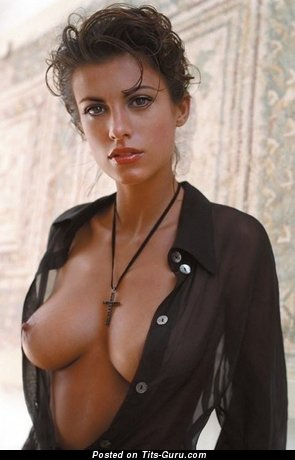 Nude beautiful girl with medium natural boobs pic