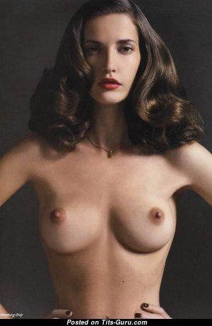 Awesome Babe with Awesome Open Natural Busts (Sexual Wallpaper)