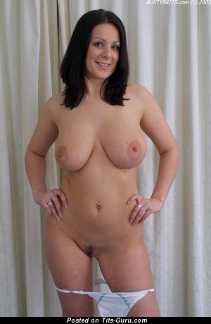 Alana Ambrose - sexy nude brunette with big natural breast photo