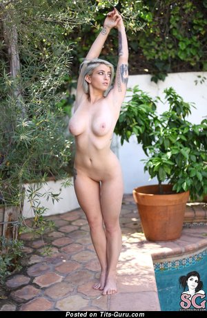 Pulp Suicide - Elegant American Bimbo with Elegant Bald Real C Size Boobys & Tattoo (Hd Porn Image)