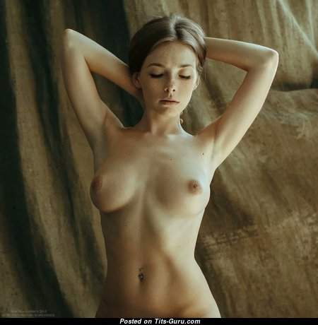 Olga Kobzar - Elegant Topless Russian Babe with Magnificent Exposed Natural Short Tit (Sex Image)