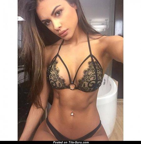 Sophia Miacova - Splendid Non-Nude Latina Brunette Babe with Splendid Medium Sized Tits in Panties & Lingerie (Xxx Image)
