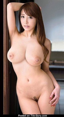 Nice Dd - Beautiful Topless & Glamour Asian Playboy Brunette Secretary & Babe with Huge Nipples is Doing Fitness (Home Hd 18+ Foto)