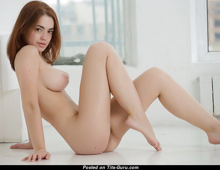 Lidia Savoderova - Delightful Russian Red Hair Babe with Delightful Bare Real Firm Chest (Porn Photoshoot)