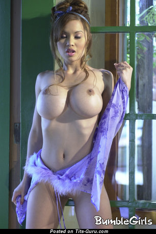 Francine Dee - naked asian with medium fake tittys image