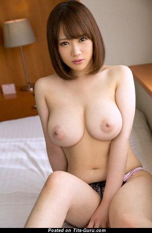 Image. Sexy naked asian brunette with medium boobies image