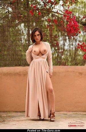 Gemma Massey - sexy nude beautiful female with medium boob photo