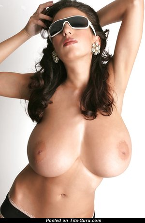 Image. Jana Defi - naked brunette with huge natural tots image