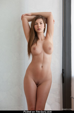 Conny Carter - sexy topless nice lady with medium tits pic