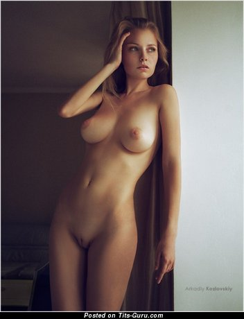 Image. Naked awesome girl with natural tits photo
