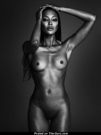 Image. Ebony with natural breast image