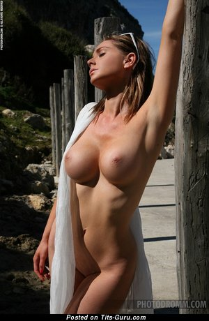Jenna Jones - sexy topless blonde with big tittys and big nipples image