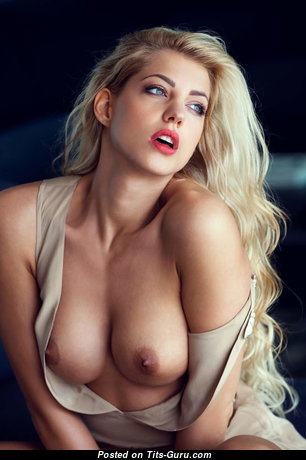 Sarah Nowak - Adorable American Blonde with Adorable Exposed Fake Tits (Porn Pix)