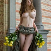 Hot woman with big natural boobies photo