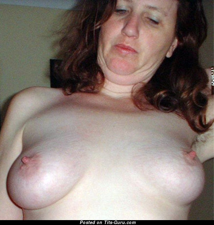 Image. Shaven1 - amateur brunette with medium natural boobies and big nipples photo