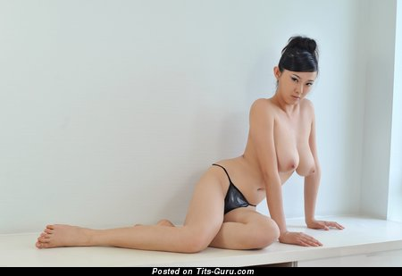 Image. Bing Yi - naked asian brunette with big natural boobs image