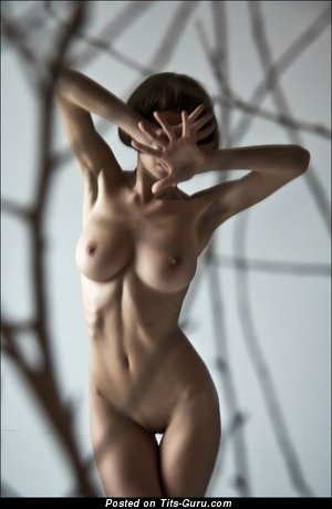 Image. Naked amazing female with big natural boobies photo