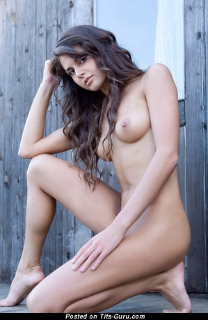 Image. Nude hot female with medium natural boobies image