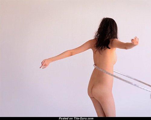 Image. Naked amazing woman with medium natural boobs gif