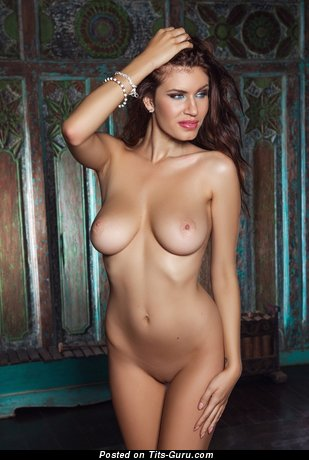 Image. Nude awesome female with natural boobs image