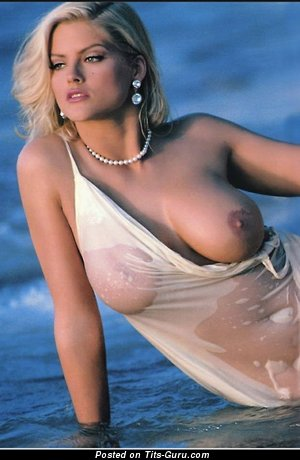 Anna Nicole Smith - Gorgeous Wet American Playboy Blonde Actress with Gorgeous Defenseless Soft Tittes (Porn Foto)