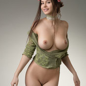 Alisa I - Nice Russian Playboy Red Hair Girlfriend with Nice Bald Real Medium Sized Boob & Huge Nipples (4k 18+ Pix)
