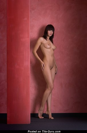 Image. Nude amazing lady with medium natural boobies image