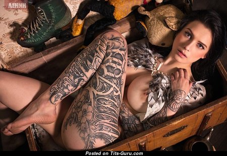 Evgenia Talanina - Dazzling Russian Brunette with Dazzling Bald Natural Boobies & Tattoo (Hd Sexual Pix)