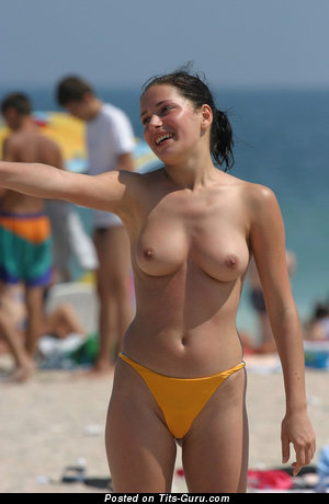 Nude wonderful woman with natural tits image