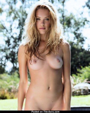 Kristy Garett - Marvelous Blonde Babe with Marvelous Exposed Real Balloons (Sex Image)