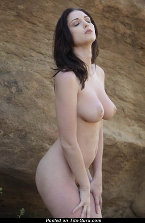 Image. Naked wonderful female with big natural boobs pic
