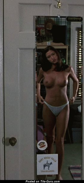 Image. Shannon Elizabeth - topless nice girl with medium tittes gif