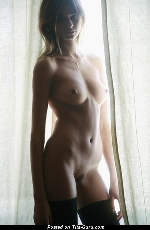 Image. Sexy topless amateur amazing woman with medium natural boobs image