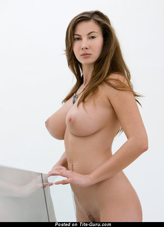 Image. Connie Carter - naked brunette with medium natural tittes photo