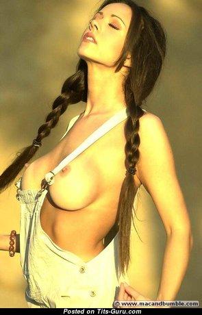 Lorissa McComas - Splendid Topless American Red Hair with Splendid Naked Fake Melons (Sexual Wallpaper)