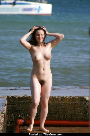 Handsome Bimbo with Handsome Bald Natural Slight Jugs on the Beach (Private Hd Sex Pix)