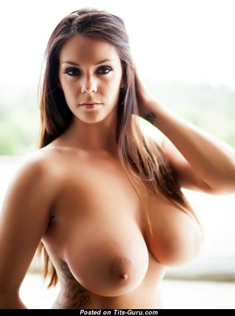 Alison Tyler - Magnificent American Red Hair Pornstar with Magnificent Nude Mid Size Melons, Piercing & Tattoo (Sexual Wallpaper)