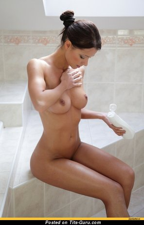 Nice Moll with Nice Bald Natural C Size Boobs (Hd Sexual Image)