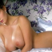 Marina Baker - brunette with big breast vintage