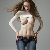 Wonderful girl with big breast picture