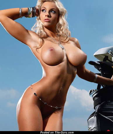 Image. Blonde with big fake boobs pic