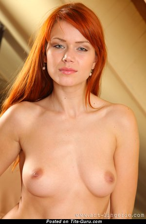 Image. Kami - naked beautiful lady with medium natural tittes picture