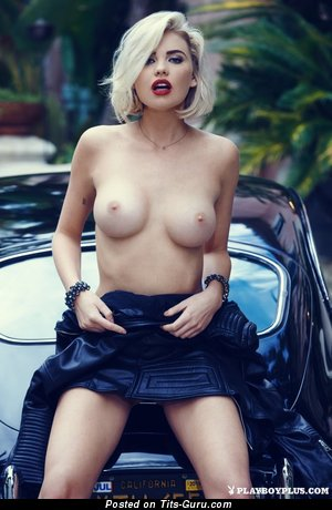 Kayslee Collins - Nice American Playboy Blonde Babe with Nice Exposed Average Tots (Sexual Pix)