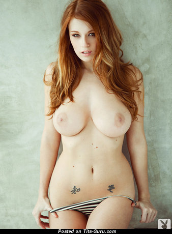 Image. Leanna Decker - nude red hair with big natural boob picture
