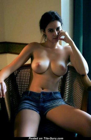 Wonderful Topless Brunette with Wonderful Nude Average Breasts (Hd 18+ Image)