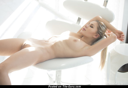 Candice Brielle - Delightful Blonde Babe with Delightful Bald Natural Short Boobie (Hd 18+ Wallpaper)