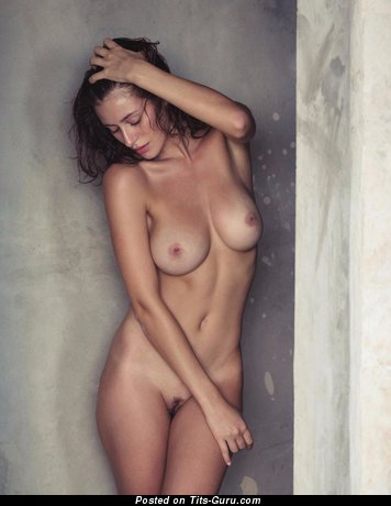 Alejandra Guilmant - sexy nude brunette with medium natural tots photo