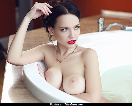 Image. Naked brunette with big boobs photo