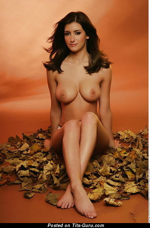 Katie Marie Cork - sexy nude brunette with medium natural tittys picture