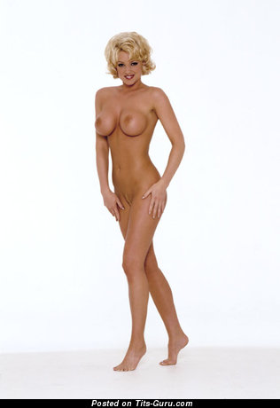 Image. Heather Kozar - sexy topless blonde with big fake tittes and big nipples image